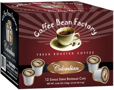 Colombian 12 Count Single Server Coffee